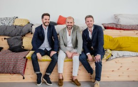 Leff to right: COO and cofounder Jules Minvielle, CEO Jean Canzoneri; cofounder and CEO of U.S., Thomas Pasquet.