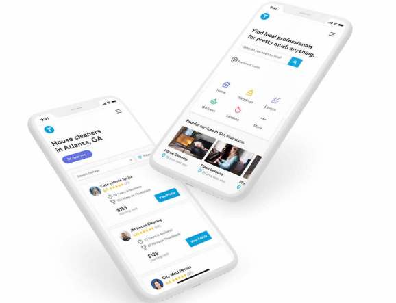 Thumbtack is an online marketplace that helps connect contractors and gig workers with clients.