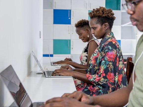 Andela developers working at Andela offices in Nairobi, Kenya