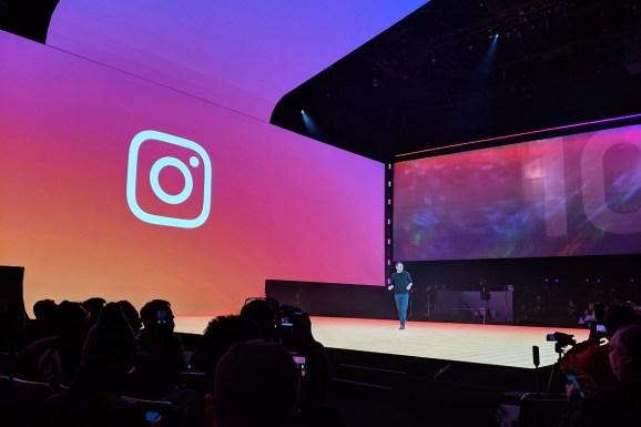 Instagram head Adam Mosseri speaks at Samsung Unpacked at the Bill Graham Civic Auditorium in San Francisco, California