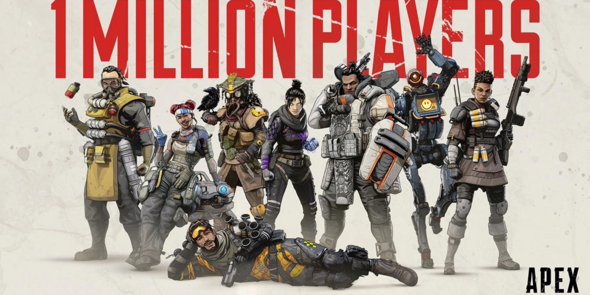 Apex Legends hit 1 million players in 8 hours.