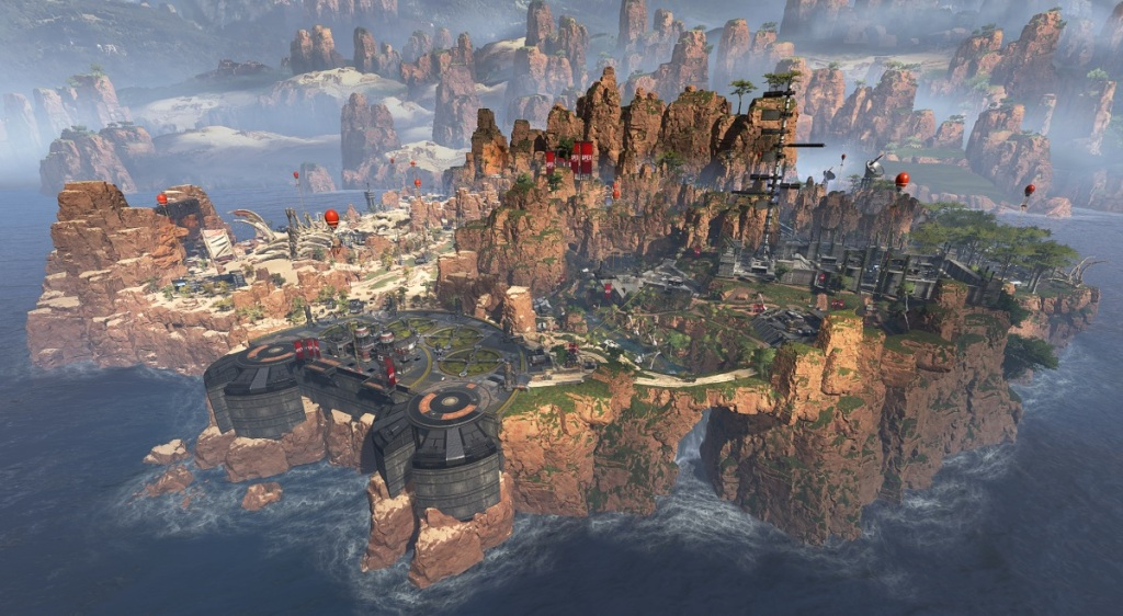 The Kings Canyon battle royale map in Apex Legends.