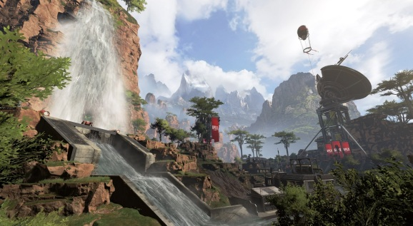I didn't notice.  But the Apex Legends battle royale map has pretty landscapes.