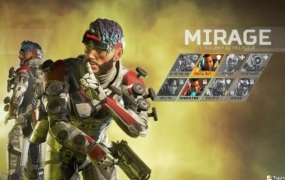 Mirage can send decoys. He is one of eight characters in Apex Legends.