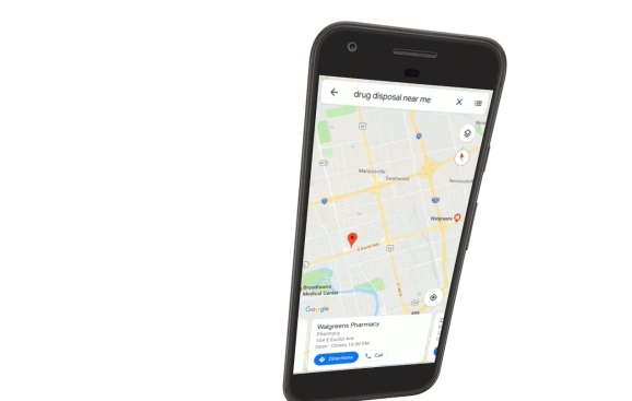 Google Maps now shows drug disposal locations for opioids