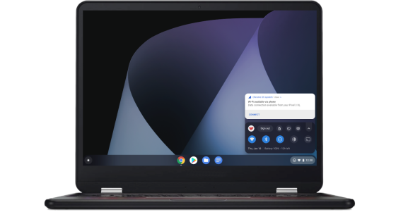 A Chromebook using Instant Tethering