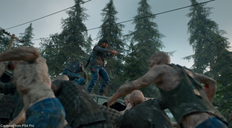 Deacon is surrounded in Days Gone.