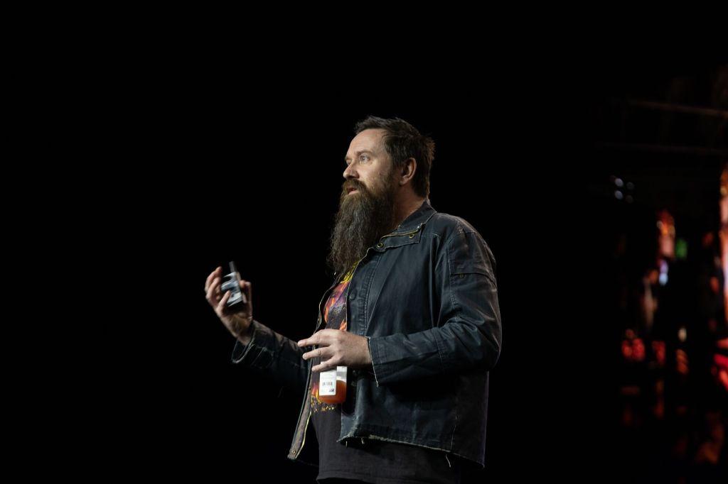 Greg Broadmore of Weta Workshop at DICE 2019.