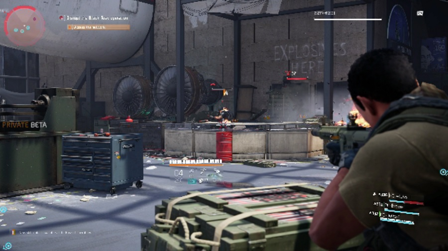 A firefight at the Air and Space Museum in Washington, D.C., in The Division 2.