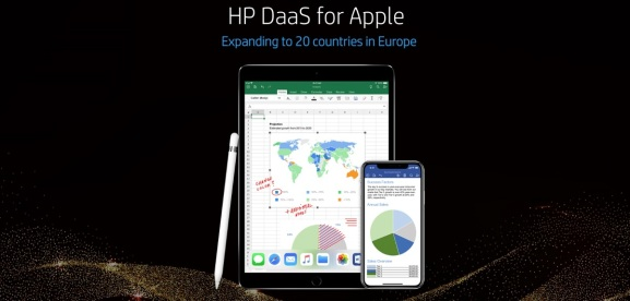 HP is now offering Apple hardware in 20 countries in Europe via device-as-a-service.