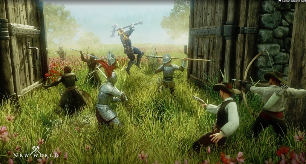 A battle in New World
