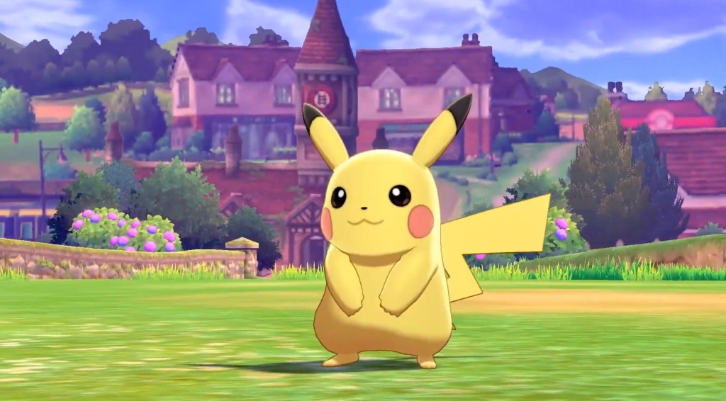 Pikachu in the new game.