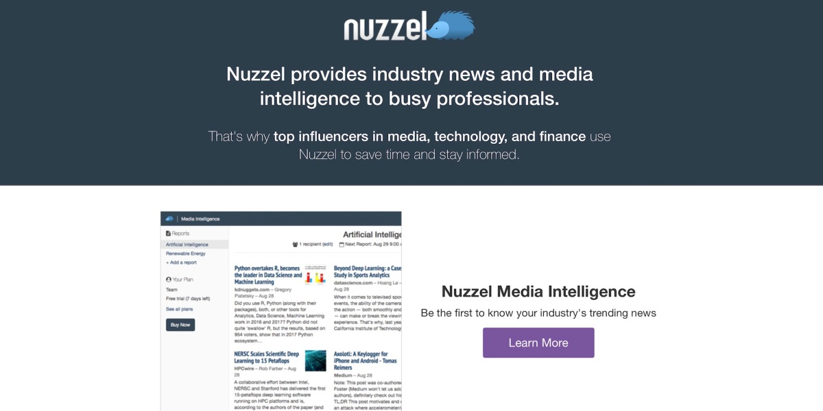 Techmeme: News aggregator Nuzzel sold to Scroll, which is building a