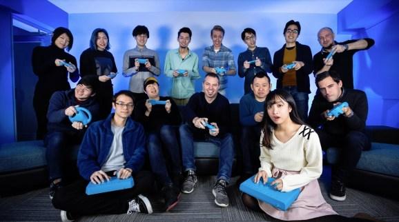 Playbrain's staff in Tokyo.