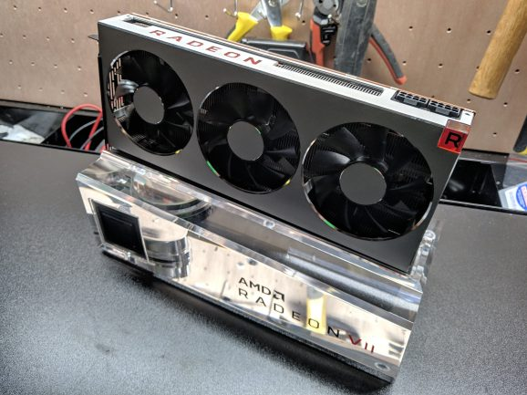 The stand does not come with the Radeon VII.