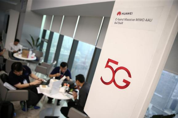 A Huawei 5G device is pictured outside an exhibition in Bangkok, Thailand, January 30, 2019.