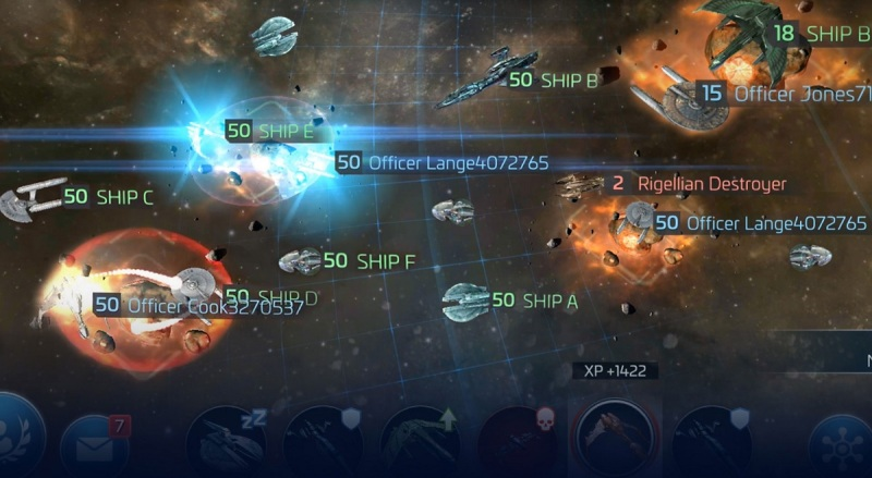 You can explore and conquer the galaxy in Star Trek: Fleet Command.
