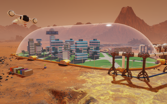 Surviving Mars in action.