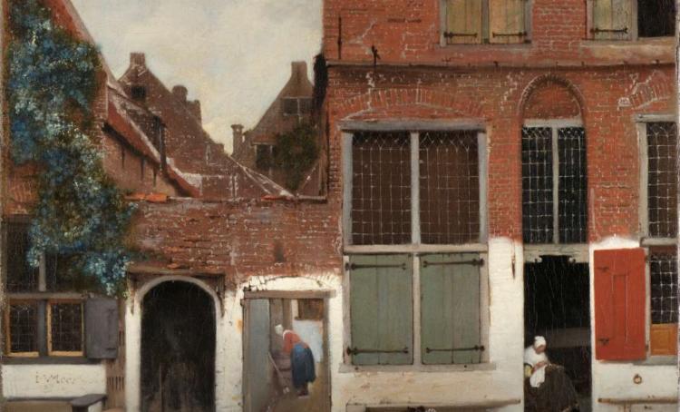 Part of Vermeer's The Little Street, from the Rijksmuseem