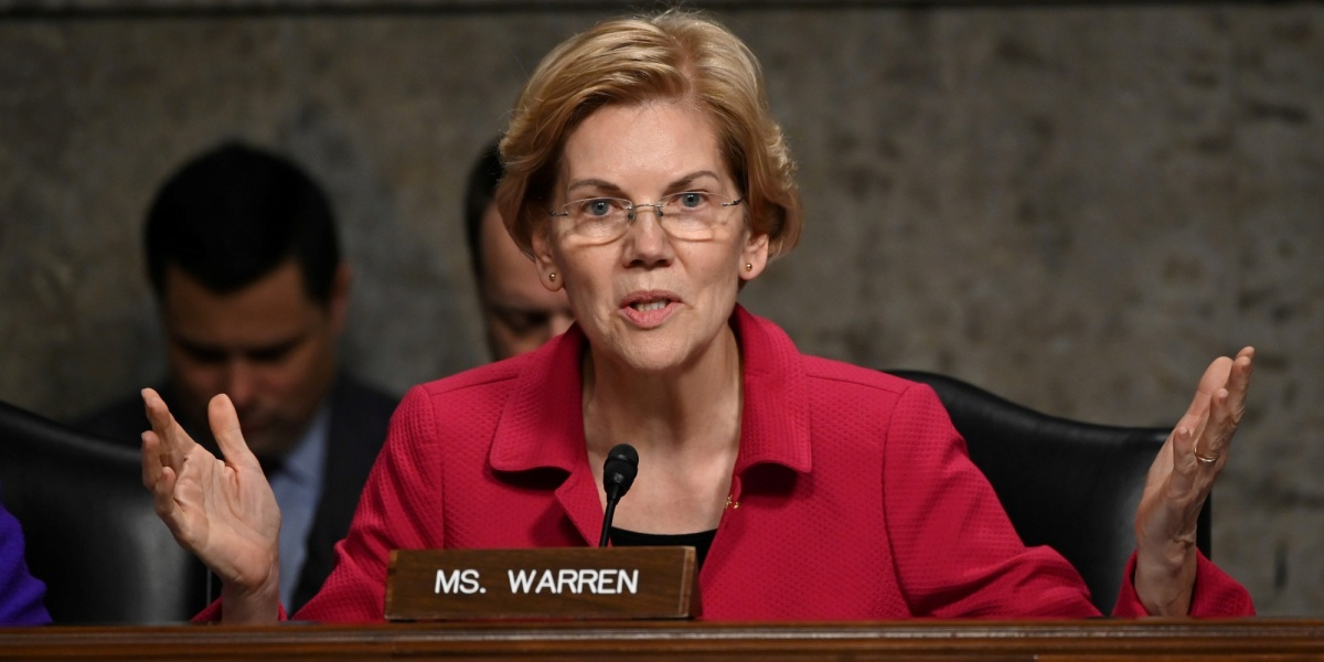 Senator Elizabeth Warren (D-MA) questions panelists testifying before Senate Armed Services subcommittees on the Military Housing Privatization Initiative