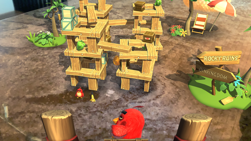 Angry Birds AR: Isle of Pigs.