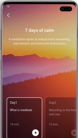 Samsung Health app now integrates with Calm's mindfulness