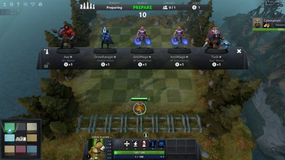 Dota Auto Chess in action.