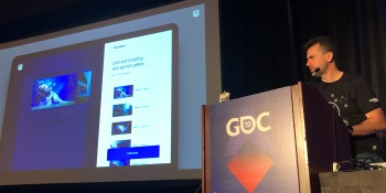 Epic's director of publishing strategy Sergey Galyonkin at GDC.
