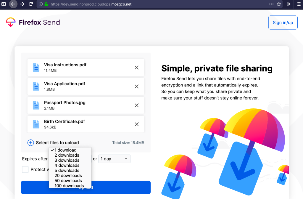Firefox Send encrypted file-transfer service goes official on