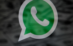 The logo of the Whatsapp messaging application is seen in this photo illustration on November 8, 2017. Over 1 million users have downloaded a fake version of the Whatsapp messaging app from the Google Play store. A Reddit user discovered the scam which was used mainly to generate revenue through adds. (Photo by Jaap Arriens/NurPhoto via Getty Images)