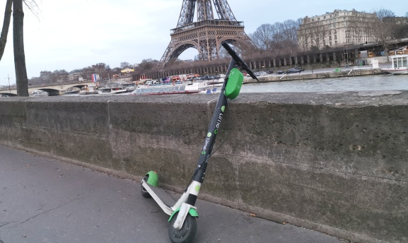 Lime scooter: Paris, February (2019)