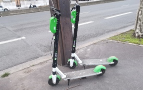 Lime scooters: Paris, February (2019)