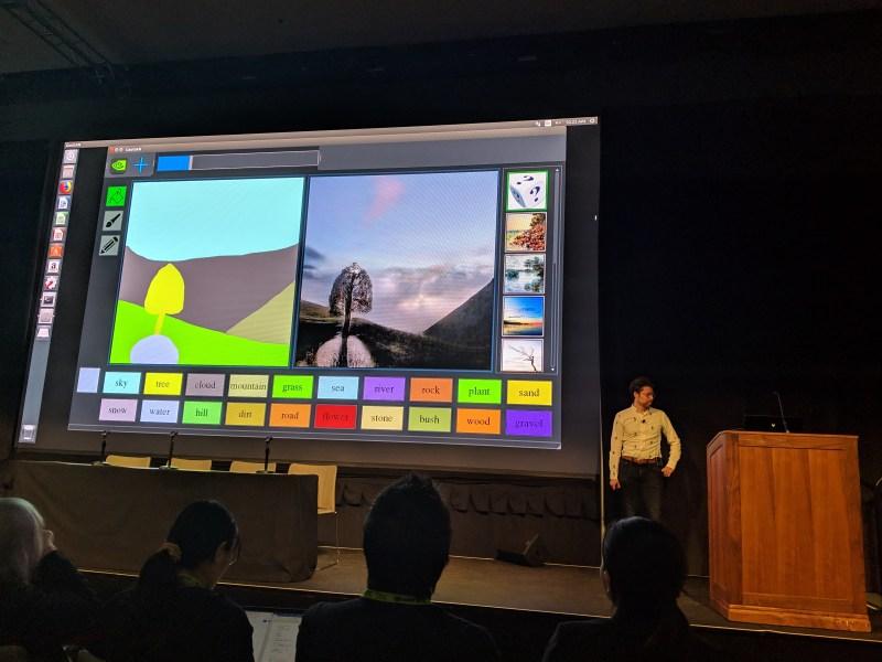 Nvidia researchers debut GauGAN, AI that creates fake landscapes