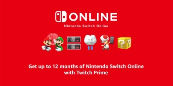 Twitch Prime members can get 12 months of Nintendo Switch Online