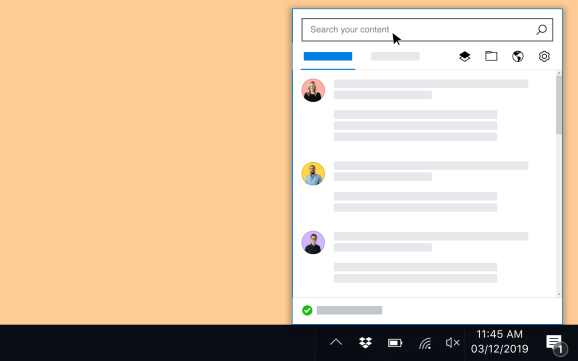 Dropbox on Windows: Search