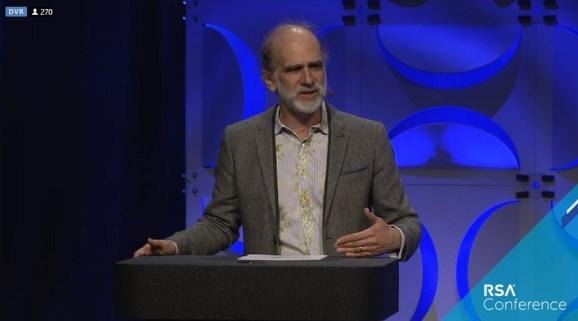 Bruce Schneier, security guru, talks at RSA 2019.