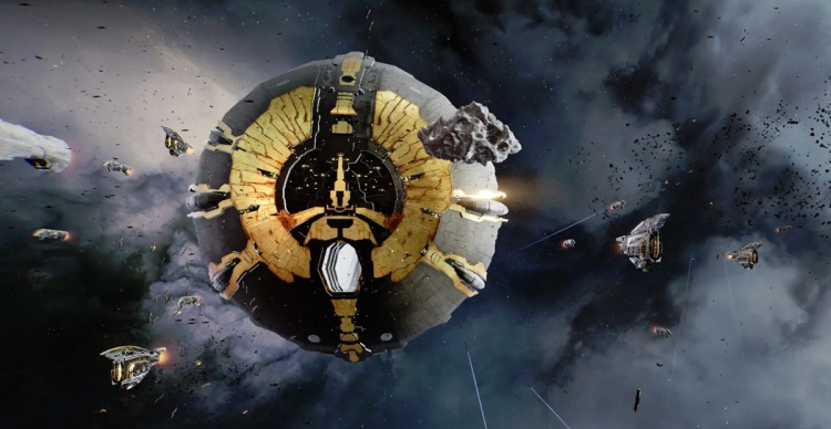 Eve: Aether Wars tech demo squeezed 10,000 ships in a battle.