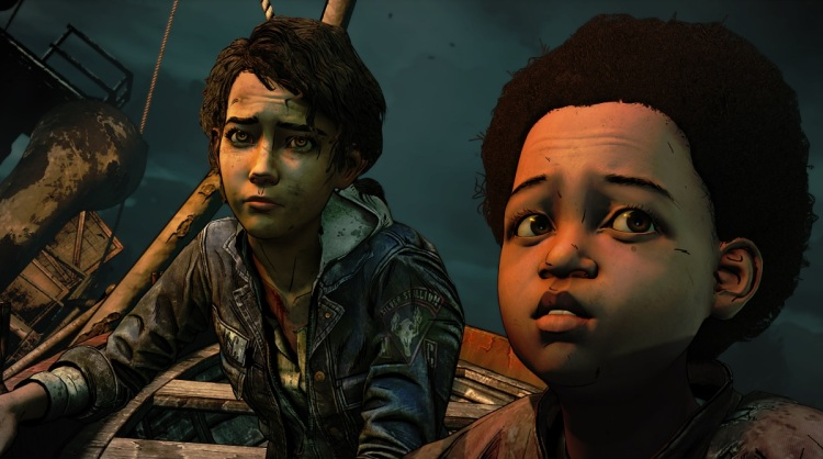 Clementine (left) looks so grown up in the final season.