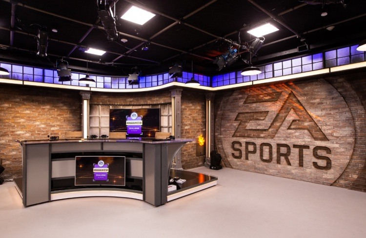 EA's esports broadcast studio is at its headquarters in Redwood City.