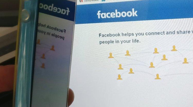 Facebook: mobile app and website