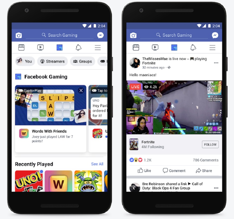 photo of Facebook launches gaming tab as a shortcut to gamer culture image