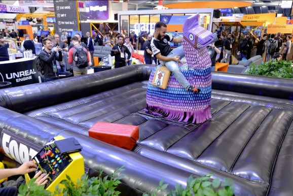 A scene from the Fortnite/Epic booth at GDC 2019.