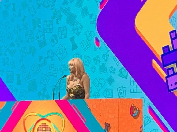 Meg Jayanth hosted the Independent Games Festival.
