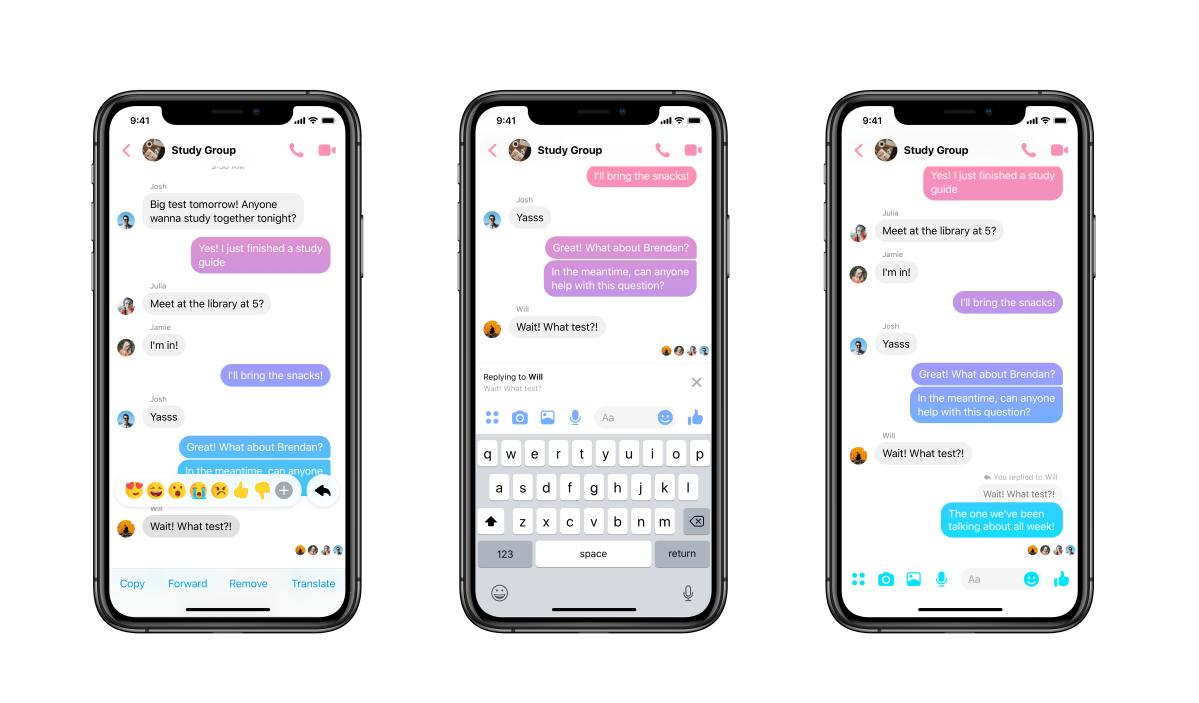 Facebook Messenger Now has Message Threads