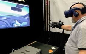 Nissan Design shows how you can use VR gloves from Haptx in car design.