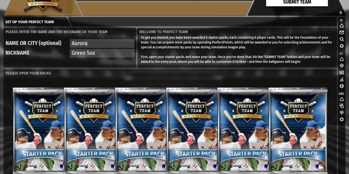 Getting started with Perfect Team is free for OOTP Baseball 19 owners.