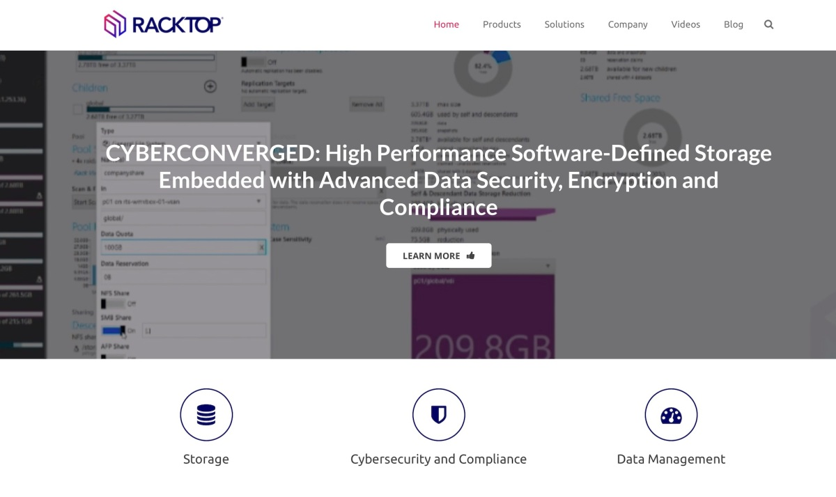 Techmeme: RackTop Systems, which provides network-attached storage