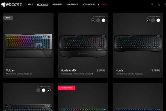 Roccat makes high-quality gaming keyboards and mice.