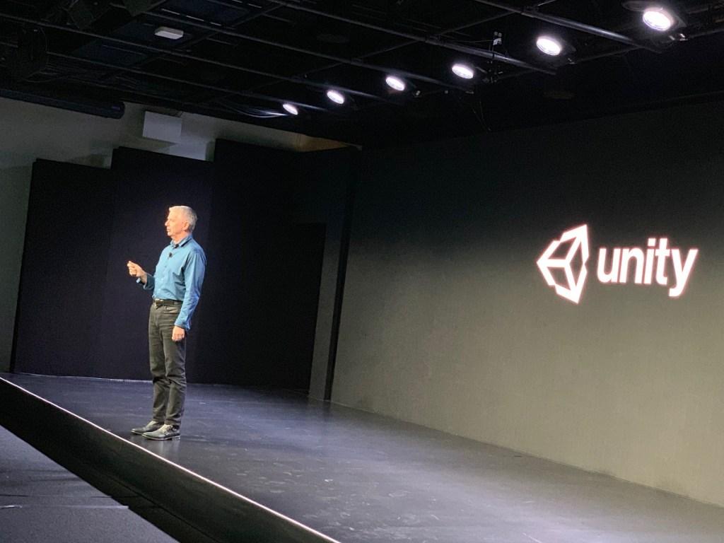John Riccitiello, CEO of Unity, at GDC 2019.