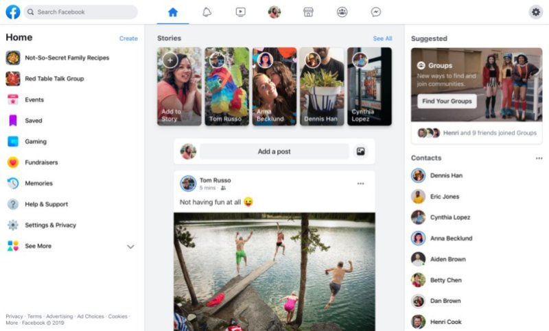 Facebook redesigns its web and mobile apps | VentureBeat
